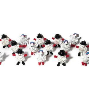 Other - Christmas Ornaments Snowmen Rubber Bristle